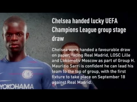 Champions League Draw Chelsea Fc 2019 20 Season S2 Ep15 Youtube