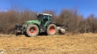 FIRMA FARMER - odkrzaczanie nieużytków rolnych mulczerem leśnym FAE