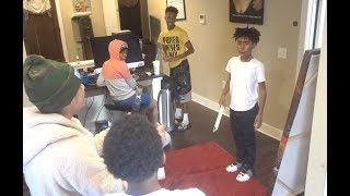 BURNED THE BAD KID TRAY'S DESIGNER BELT PRANK! *Crazy!!