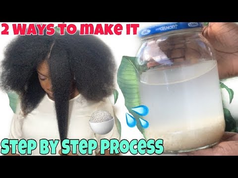 Download HOW TO MAKE RICE WATER SUPER HAIR GROWTH TREATMENT   RICE WATER RINSE FOR NATURAL HAIR (2 Ways)