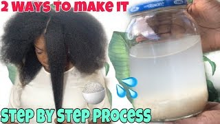 HOW TO MAKE RICE WATER SUPER HAIR GROWTH TREATMENT | RICE WATER RINSE FOR NATURAL HAIR (2 Ways)