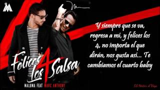 Felices los 4 Salsa Version Letra Maluma Marc Anthony