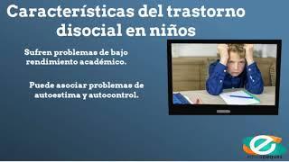 Trastorno disocial en niños