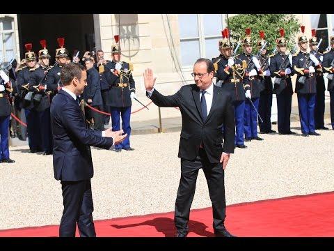 Passation de pouvoirs : Emmanuel Macron, nouveau président - François Hollande quitte l'Elysée