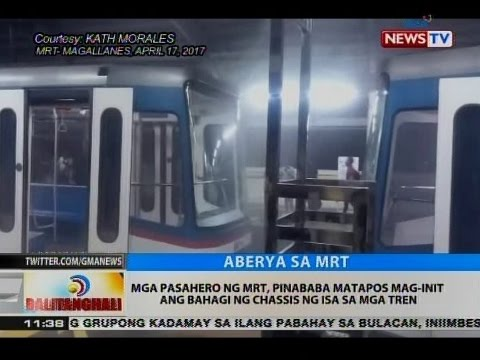 BT: MRT, muling nakaranas ng technical problem sa northbound ng Magallanes station