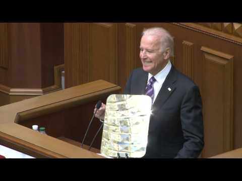 Joe Biden's speech at the Ukrainian Parliament