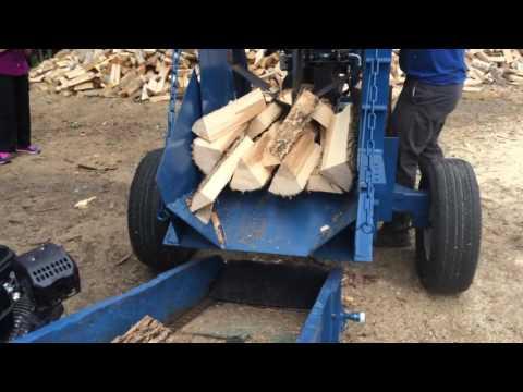 Homemade wood splitter and wood tumbler
