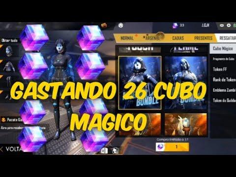 GASTANDO 26 CUBO MAGICO NO FREE FIRE = 26 SKINS RARA