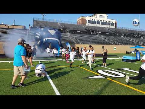 Mary Bramlett Elementary School students were given the full Carolina Panthers experience during an