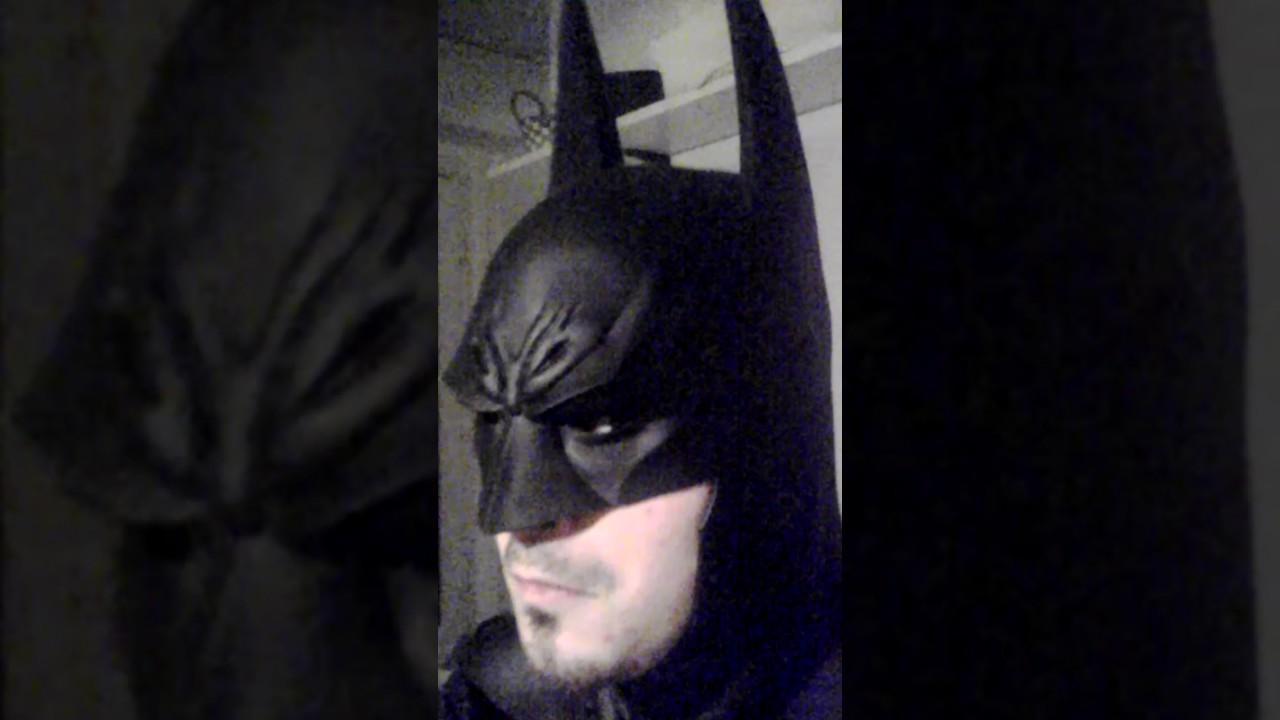 Batman Arkham Asylum cowl mask of TIGERSTONEFX