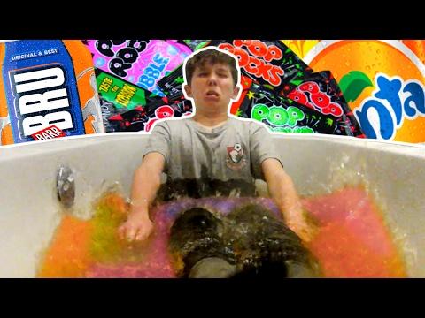 POP ROCKS & SODA vs. ICE BATH CHALLENGE!!