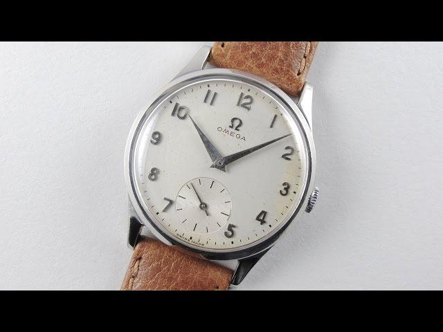 Steel Omega Ref. 720 vintage wristwatch, circa 1954