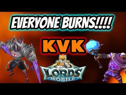 KVK - Everyone BURNS!!! - Lords Mobile