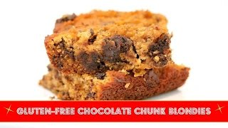 Gluten-free Chocolate Chunk Blondies (with Coconut Flour)
