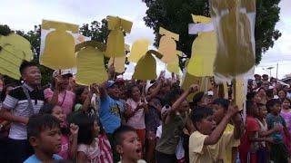 Joy as US-seized bells return to Philippine church