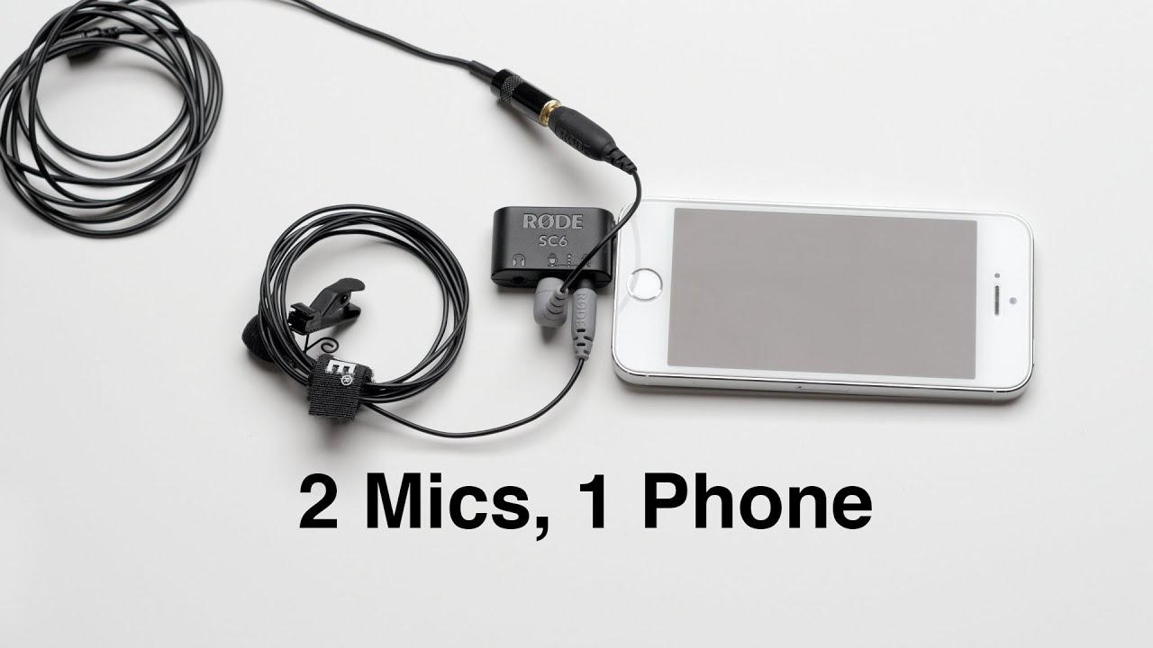 2 Mics 1 Phone: Recording 2 Lavs with Your SmartPhone RODE smartLav+