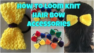 How to loom knit a hair bow