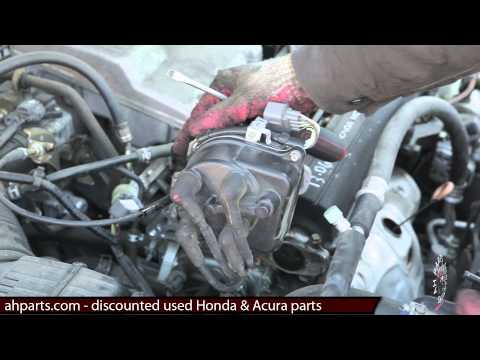 How to install / change a distributor 1997 1998 1999 2000 2001 Honda CRV REPLACEMENT REPLACE DIY FIX