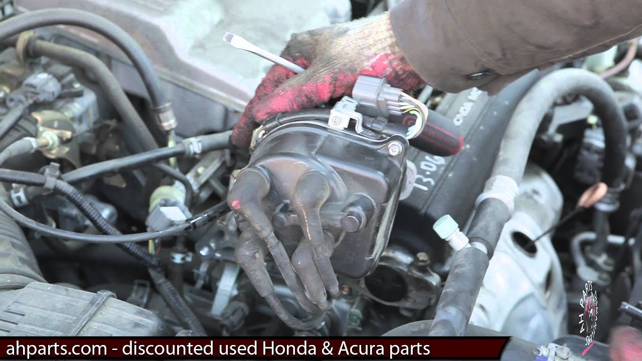 how to install change a distributor 1997 1998 1999 2000 2001 honda rh youtube com