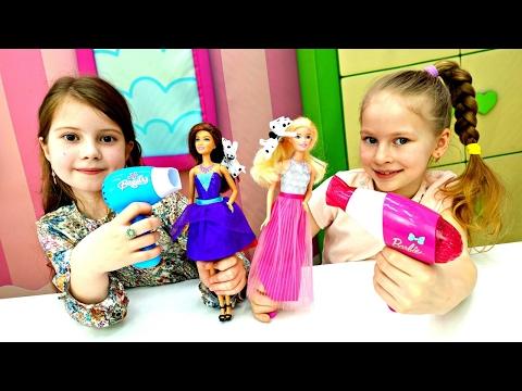 Куклы Барби в Салоне Красоты! Игры ПАРИКМАХЕРСКАЯ 💄 NEW Мультики про Барби 💅 Видео для Девочек