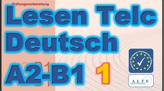 Modelltest (1) A2-B1 Lesen Deutsch