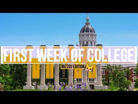 MY FIRST WEEK OF COLLEGE | UNIVERSITY OF MISSOURI