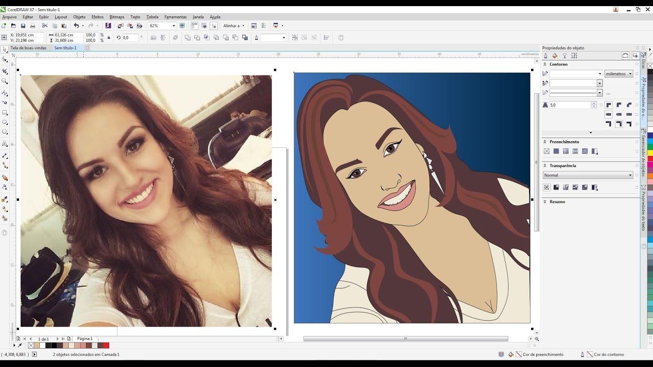 Transformando foto em desenho photoshop online 67