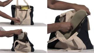Elegante Cotton Canvas Two Tone Tote Thumbnail