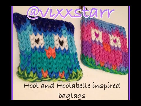 Hoot Owl Mini Mural Cute Bag Tag Charm Rainbow Loom