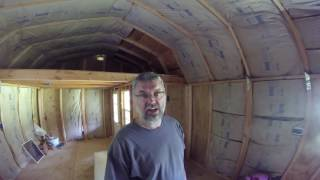 diy tiny house converting a storage shed into a tiny home video three more insulation