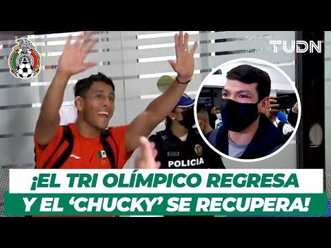 ¡Cómo HÉROES! El Tri Olímpico causa SENSACIÓN a su regreso a México   TUDN
