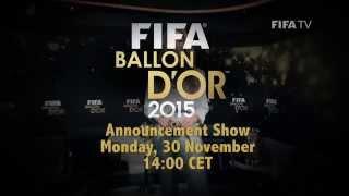 FIFA Ballon d'Or 2015 Nominees