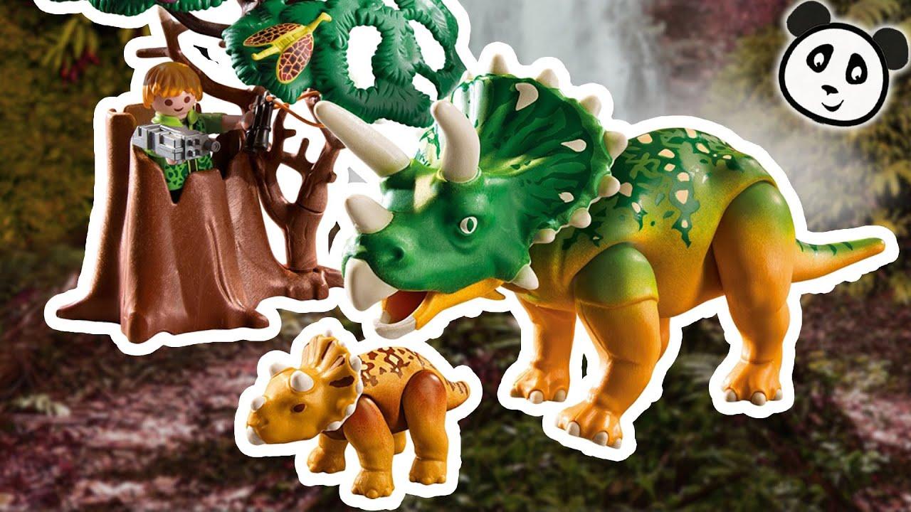 playmobil dinosaurier deutsch  triceratops mit baby