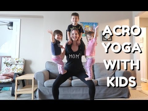 Beginner Acro Yoga With Kids | Fit Mom Workout Fun