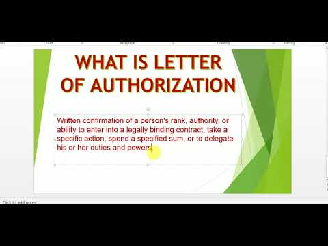 What is letter of Authorization in GST Letter of Authorization form