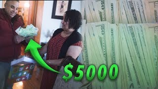 GIVING MY STRUGGLING PARENTS 5000 DOLLARS FOR CHRISTMAS! *emotional*