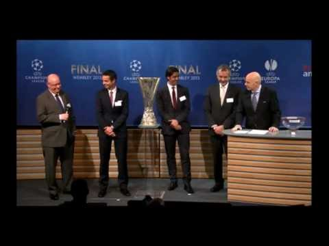 UEFA Europa League - Draw of the Semi Finals 2013 HD 12-4-2013