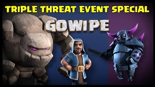 Triple Threat Event for TH8, TH9 & TH10 | GoWiPe Attack Strategy | Clash of Clans