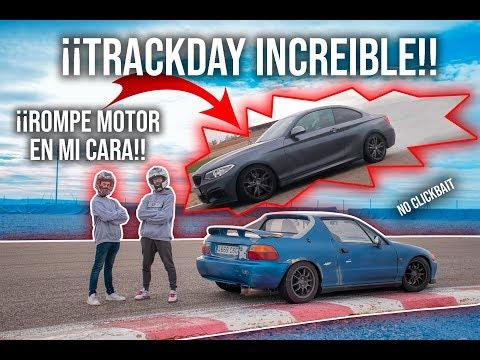 Rompe motor, derrapes, salida de pista...¡Trackday INCREIBLE con el CRX Del sol de Ury G! | RATSQUAD