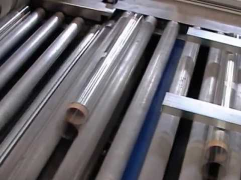 """Packaging line """"GWP"""" for aluminum and paper rolls."""