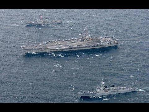 High Alert !! 3 US  Aircraft Carriers Lead Naval Drill Aimed at N  Korea