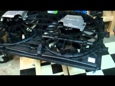 radiator cooling fan assembly repair install chevy impala youtube rh youtube com
