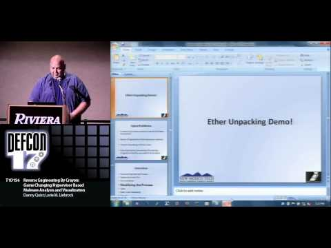 DEFCON 17: Reverse Engineering By Crayon: Hypervisor Based Malware Analysis and Visualization