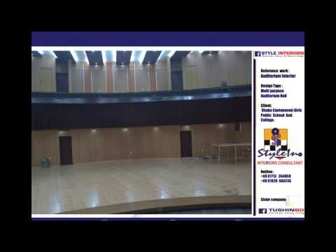 STYLE INTERIORS BANGLADESH : AUDITORIUM HALL AT  DHAKA CANT PUBLIC SCHOOL AND COLLAGE