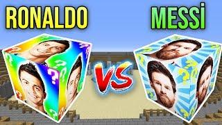 RONALDO VS MESSİ ŞANS BLOKLARI CHALLENGE - Minecraft