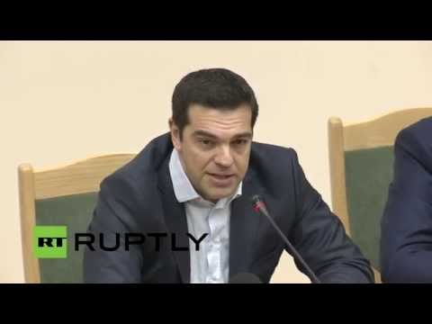 LIVE: Alexis Tsipras delivers lecture to MGIMO students