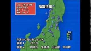 2011年1月 3月11日 東北地方太平洋沖地震 までの主な地震