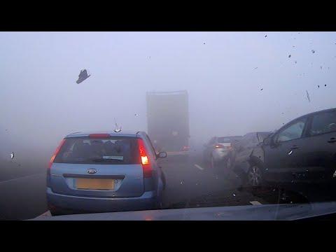 Dashcam Captures Shocking Motorway PileUp In Fog