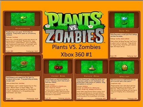 Plants VS. Zombies Xbox 360 Version ep.1-The Sunflower that Fights for his Rights