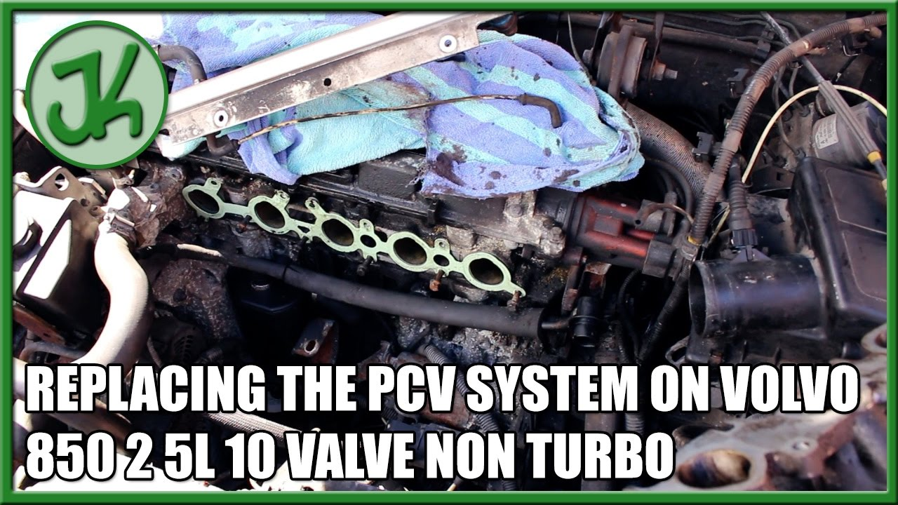 Replacing the PCV System on Volvo 850 2 5L 10 Valve Non Turbo
